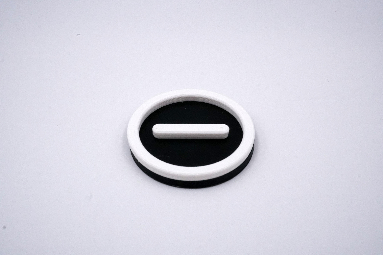 3D Badge - Minus