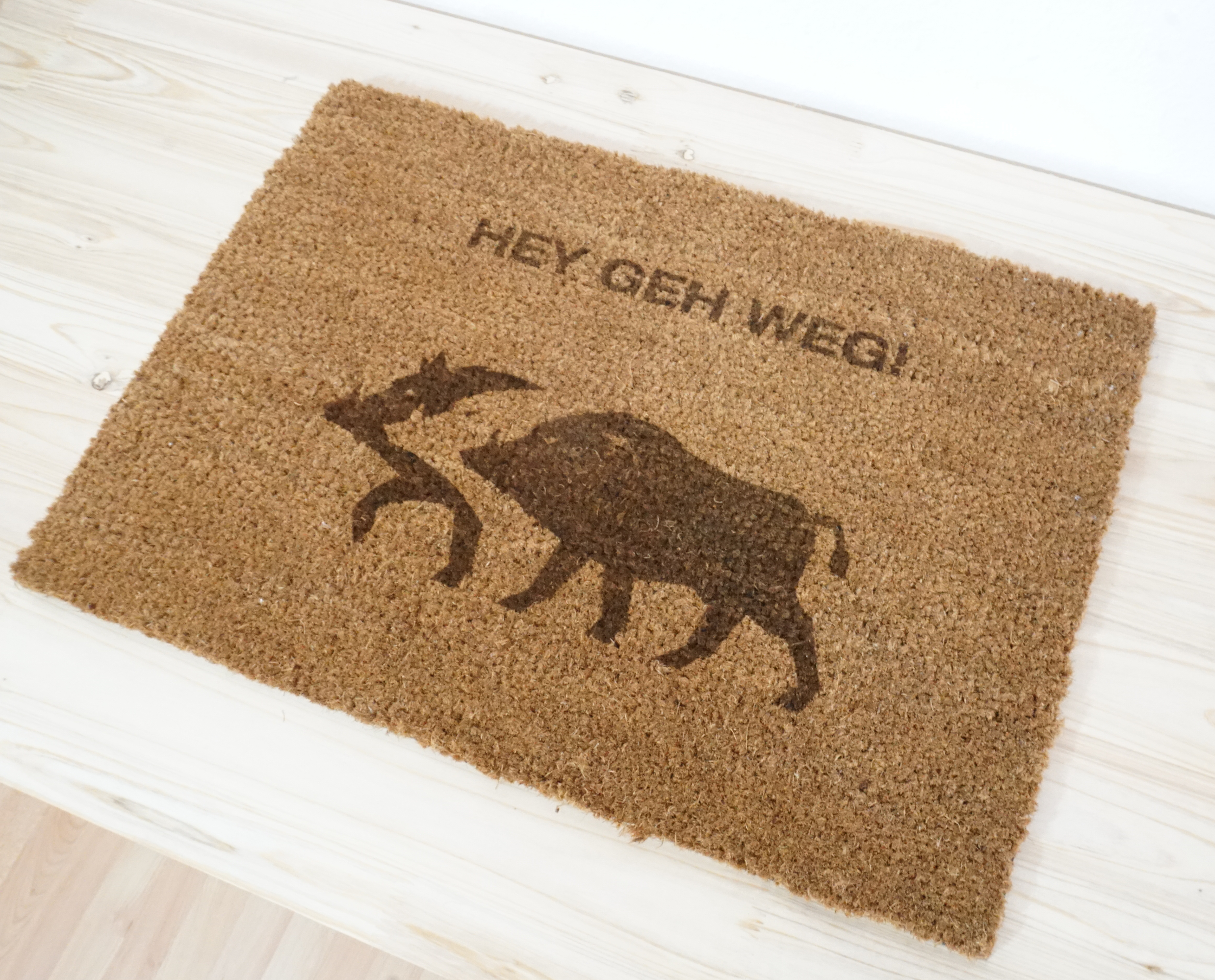 Fußmatte - HEY GEH WEG!