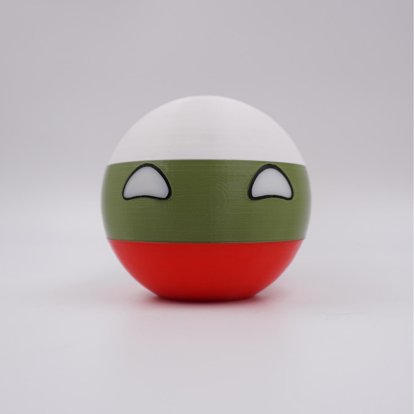 3D Druck - Countryball mit Farbwahl