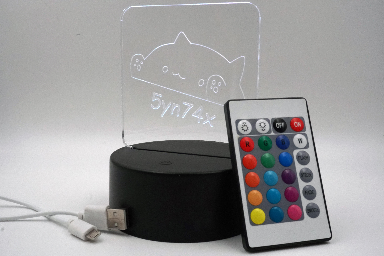 LED Aufsteller - Bongokadse mit Gravur